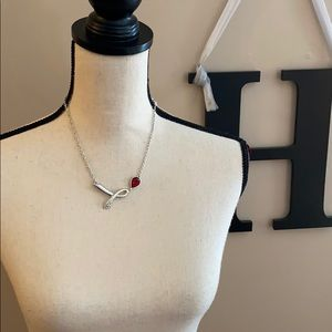Red Stone Necklace NWT
